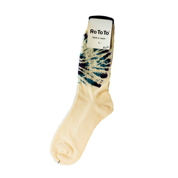 RoToTo Tie Dye Pattern Socks Purple/Sax