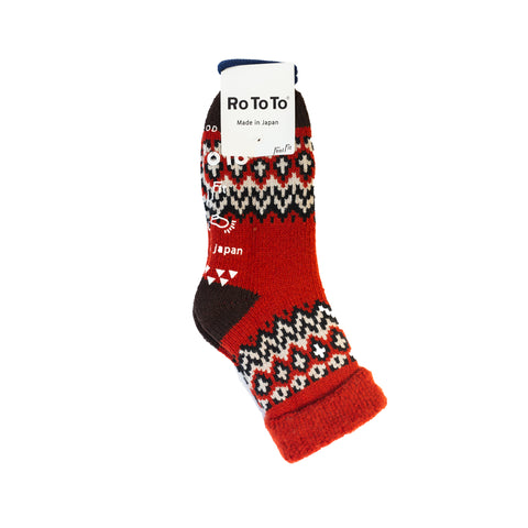 RoToTo Nordic Comfy Roomy Socks Red
