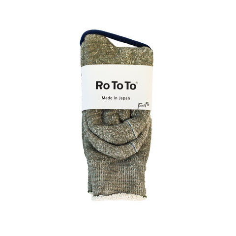 RoToTo Double Face Socks Army Green