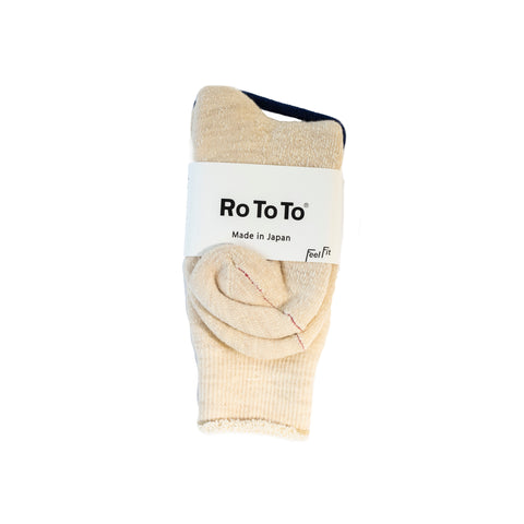 RoToTo Double Face Socks Oatmeal