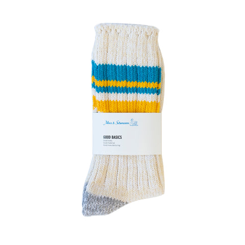 Merz b. Schwanen GS02 Socks Nature/Sky