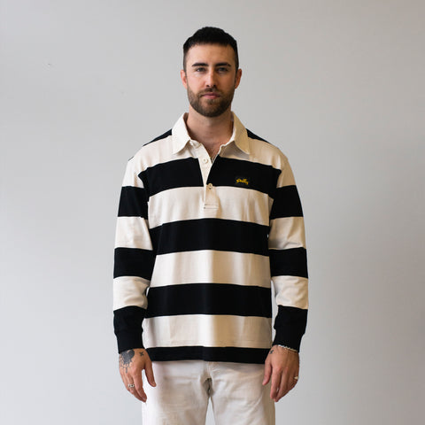 Stan Ray Rugby Shirt Black/Natural