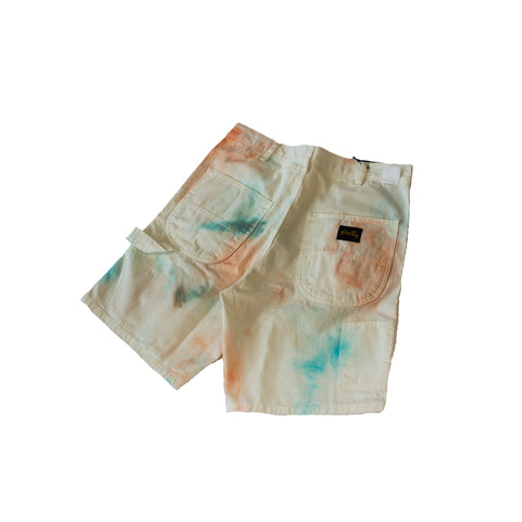 Stan Ray 80s Painter Short Coral/Parrott Tie Dye