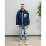 Sugar Cane Boa Fleece Reversible Jacket Navy