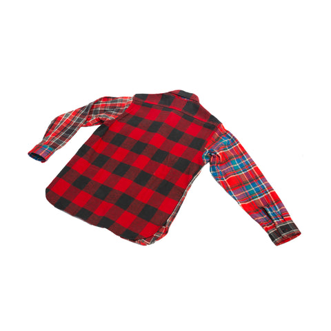 Sugar Cane Crazy Twill Work Shirt Red