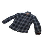 Sugar Cane Fiction & Romance Wool Check Sports Jacket Navy Plaid