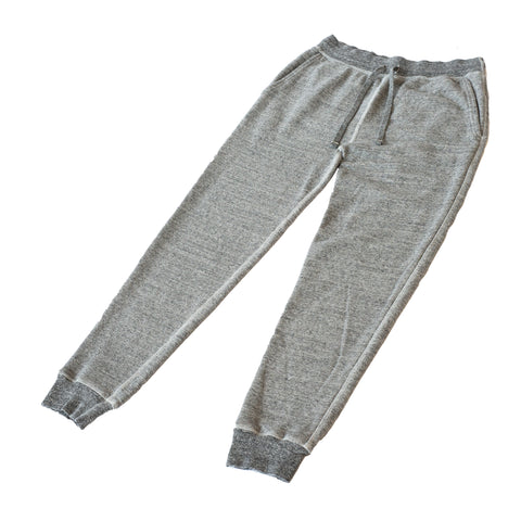 National Athletic Goods Slim Gym Pant Mock Twist Fleece Dark Grey
