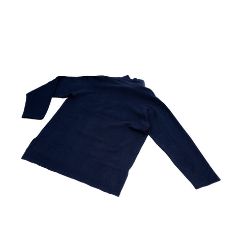 Engineered Garments Mock Turtle Dark Navy Cotton Fleece