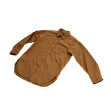 Engineered Garments Work Shirt Khaki Solid Cotton Flannel