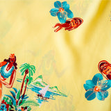 "Sun Surf ""Being to Dance Hula"" Hawaiian Shirt Yellow"