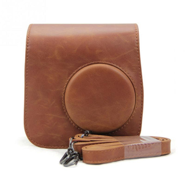 Classic Vintage Leather Polaroid  Camera Strap Bag Case For Fuji Fujifilm Instax Mini 8