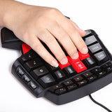 Single Hand Professional Gaming Keyboard with LED Backlight