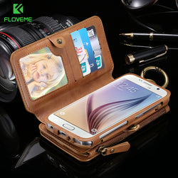 Two-Piece Wallet &Phone Pouch Case with 18 Card Slot