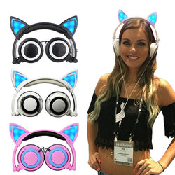 Cat Eye LED Headphones- Foldable
