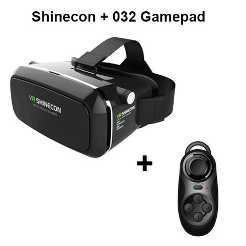 VR 3D Glasses Headset for 4-6' Smartphone + Control
