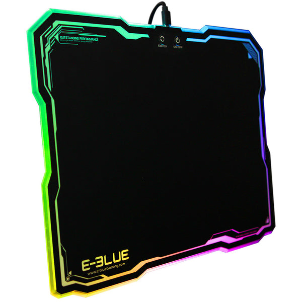 LED Lighting Hard Gaming Mouse Pad Mat With Anti-Slip Rubber