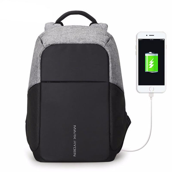 Anti-Theft USB charging 15inch Laptop Backpack
