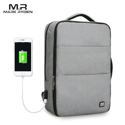 17 inch Waterproof Laptop Backpack with USB recharger