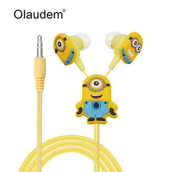 Despicable Me Minions Cartoon3.5 mm Earphone for MP3 MP4 Mobile Phone With Earplug Cover