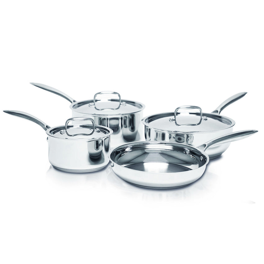 Hot Dots Cookware Stainless Steel 7-Piece Cookware Set - Smart Living by Lake