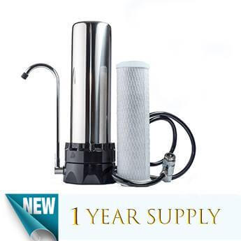 Stainless Steel Countertop Water Purification System  & 1 CB-10 filter - Smart Living by Lake