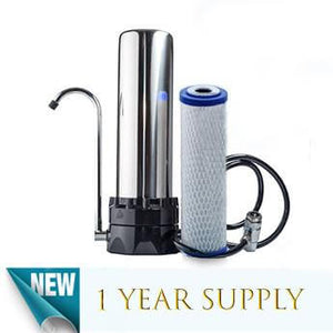Stainless Steel Countertop Water Purification System & 1 CB-210 Filter - Smart Living by Lake