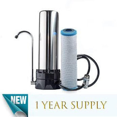 Stainless Steel Countertop Water Purification System & 1 KDF Filter - Smart Living by Lake