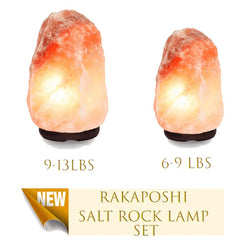 Rakaposhi Natural Himalayan Salt Rock Lamp x2 Set - Smart Living by Lake