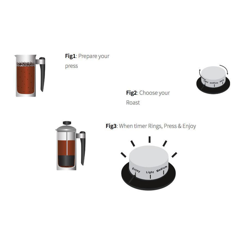 French Press Express Manual Coffee Timer - Smart Living by Lake
