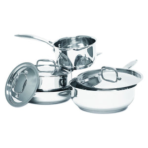 Hot Dots Cookware Stainless Steel 7-Piece Cookware Set