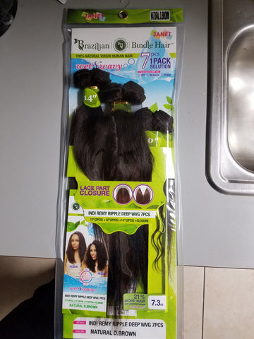 Janet Collection - Indi Remy Ripple Deep Weaving 7pcs. (Wet&Wavy)