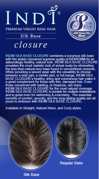 INDICLOSURE SILK BASE CLOSURE MINKY YAKI