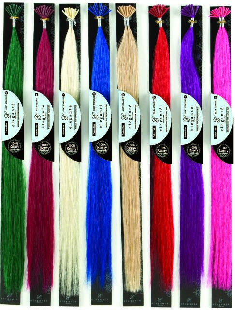ELEGANTE REMY 100% HUMAN HAIR I-TIP SILKY STRAIGHT 20PCS