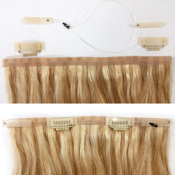 "PRINCESS LOCS 18"" ONE PIECE HEADBAND (HALO) EXTENSIONS"