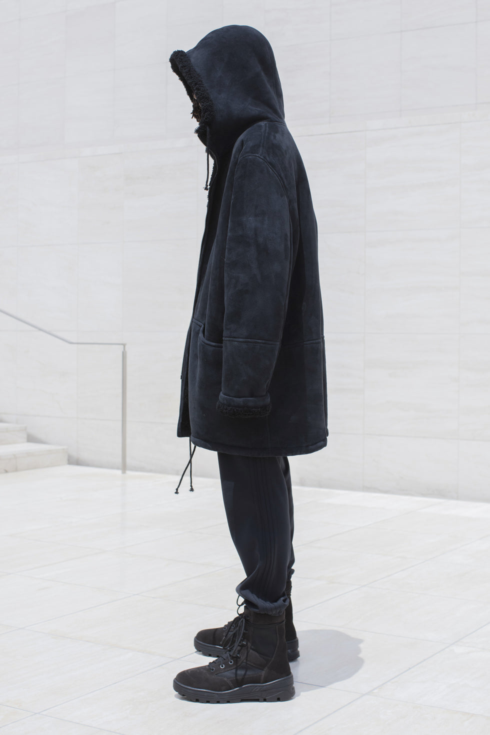 LONG SHEARLING JACKET BAT