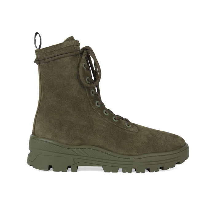 Thick Suede Combat Boot Military