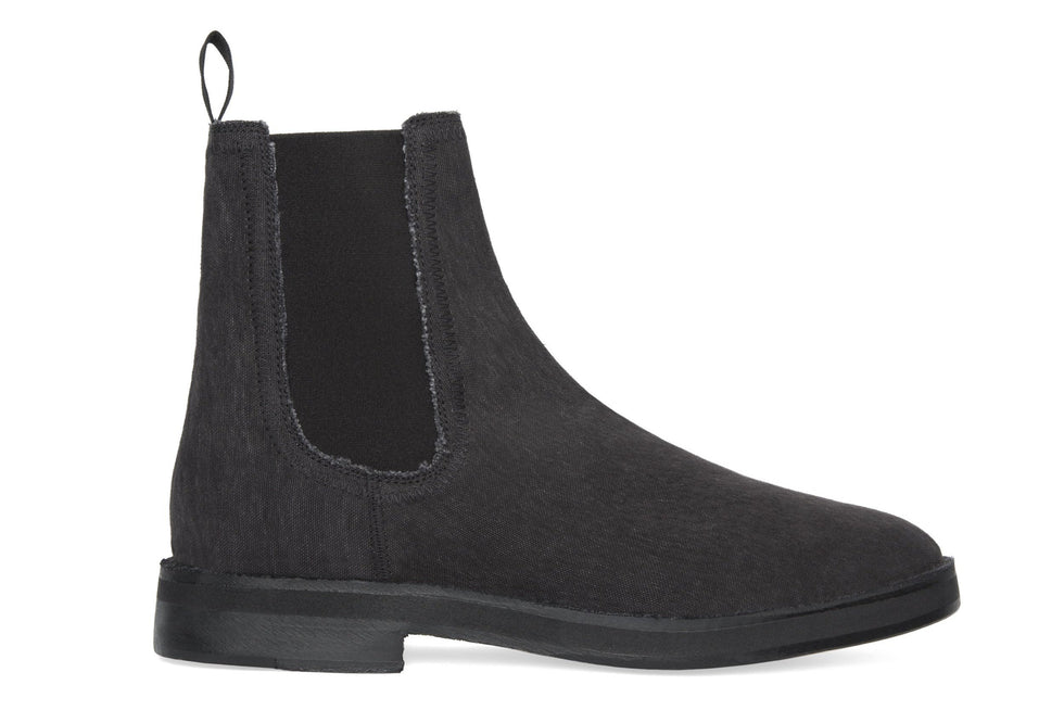 WASHED CANVAS CHELSEA BOOT GRAPHITE