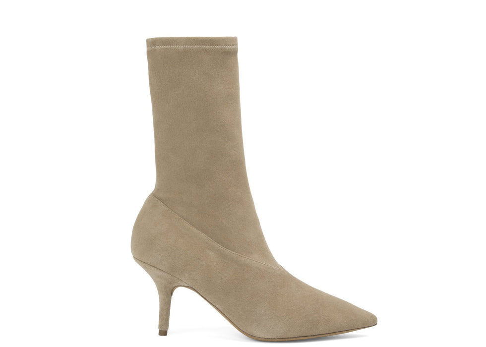 SUEDE ANKLE BOOTIE MILITARY LIGHT