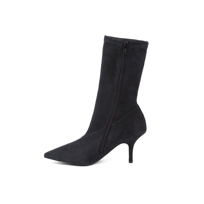 SUEDE ANKLE BOOTIE GRAPHITE