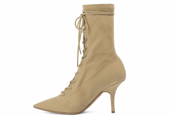 Canvas Lace Up Boot Military Light