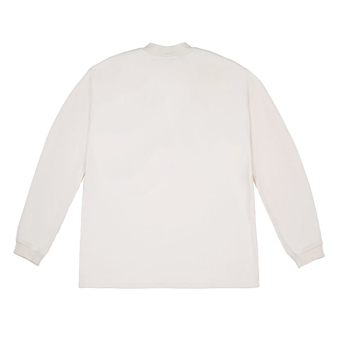 LONG SLEEVE TEE WITH POCKET BLEACH