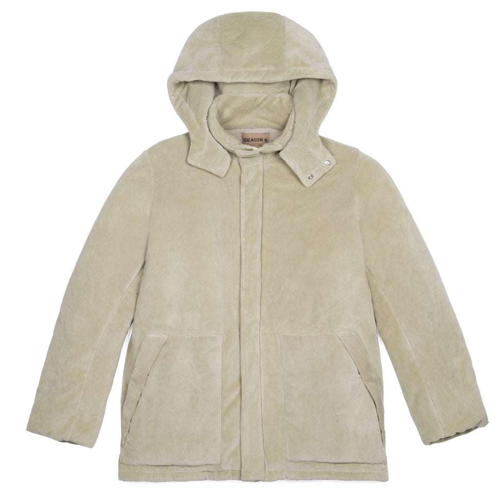 VELOUR PUFFER JACKET SAWGRASS