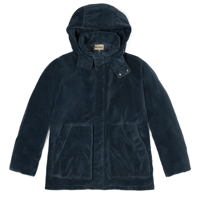 VELOUR PUFFER JACKET BAT