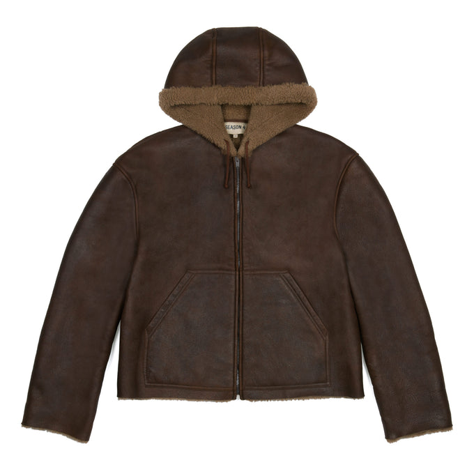 SHORT SHEARLING JACKET NATURAL