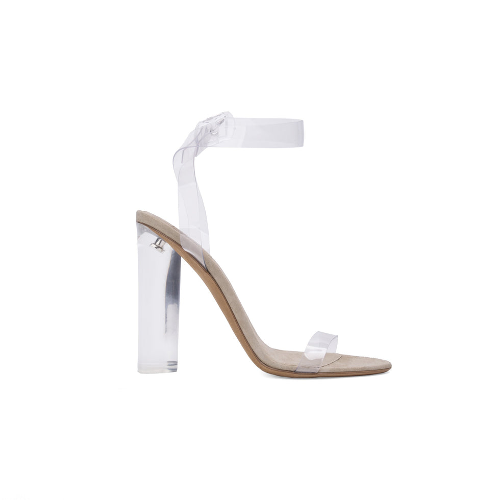 PVC ANKLE STRAP HIGH HEEL CLEAR