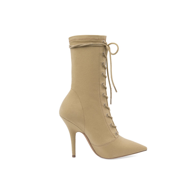 STRECH CANVAS LACE UP BOOT HIGH DOLLAR
