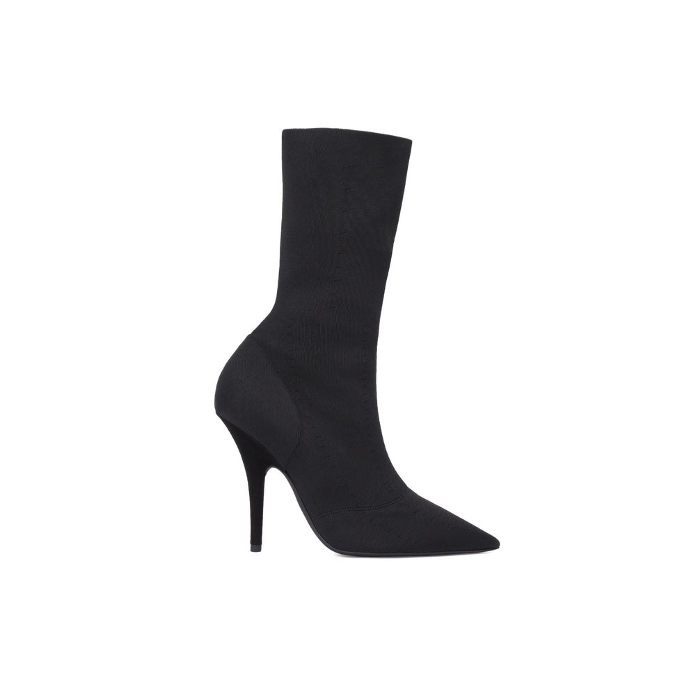 KNIT ANKLE BOOT HIGH ONYX