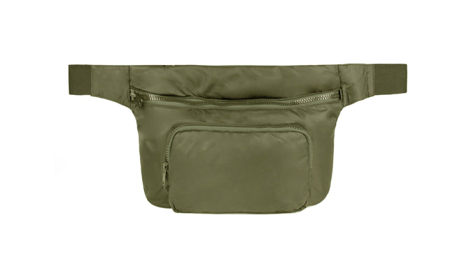 NYLON WAIST BAG TRUFFLE
