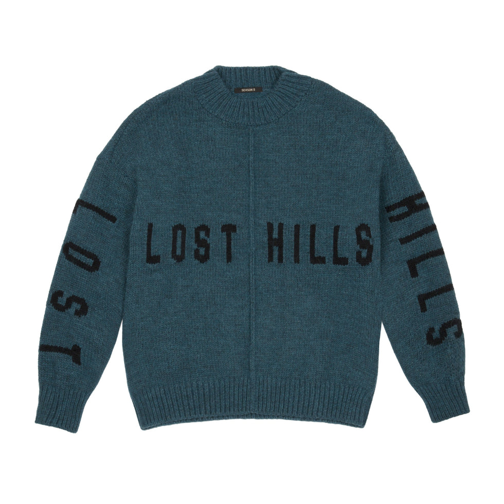 INTARSIA SWEATER PETROLEUM