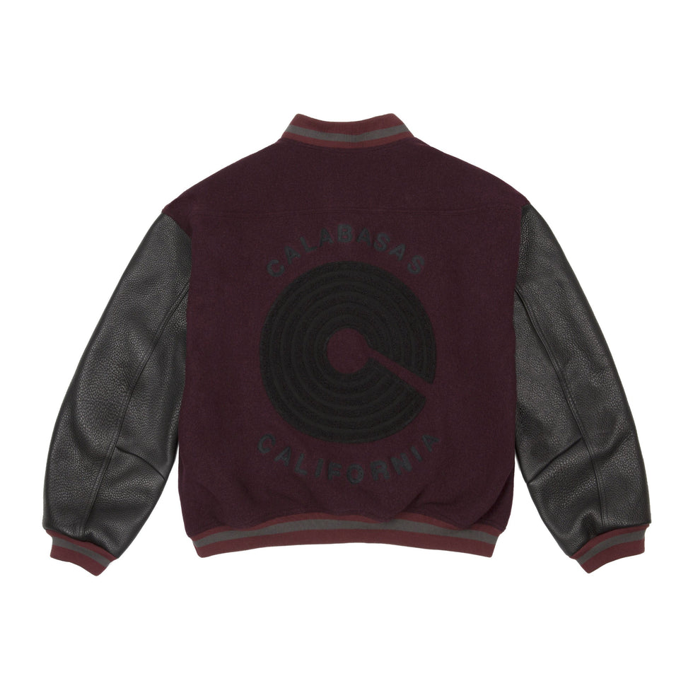 LETTERMAN JACKET OXBLOOD INK